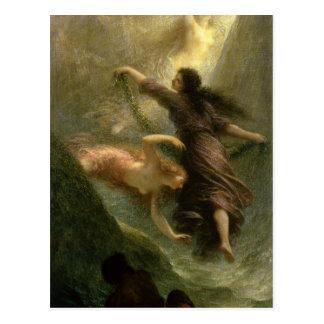 Rheingold, primera escena, 1888 postal