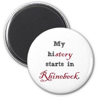 Rhinebeck es mi historia imán redondo 5 cm