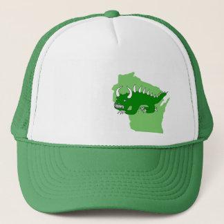 Rhinelander retro Hodag y gorra de Wisconsin