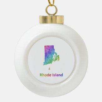 Rhode Island Adorno De Cerámica Tipo Bola