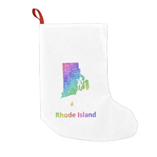 Rhode Island Calcetín Navideño Pequeño