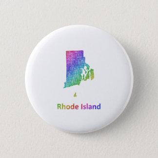 Rhode Island Chapa Redonda De 5 Cm