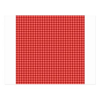Rhombus - rojo en colores pastel y Firebrick Postal