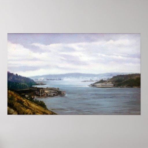 Ría de Ferrol (A Coruña)/Estuary of Ferrol Poster