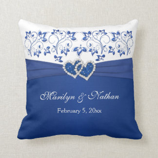 RIBBON JEWELS IMPRESO azul almohada blanca del bo