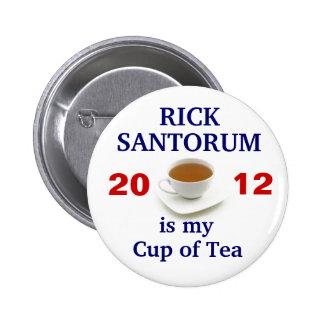 Rick Santorum es mi taza de té Pins