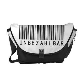 """Rickshaw bolsa """"barra código black IMPAGABLE Bolsa De Mensajería"""