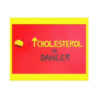 rico en colesterol   en lona envuelta lienzo