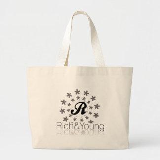 ricos y jóvenes bolsa tela grande