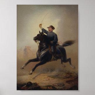 Ride Painting de general Philip Sheridan Póster