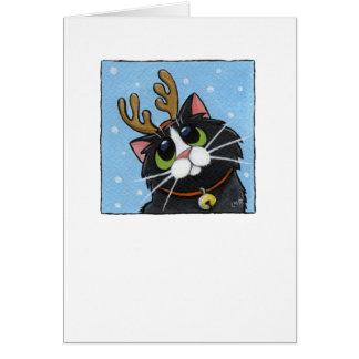 Rienda-gato - tarjeta del gato del navidad
