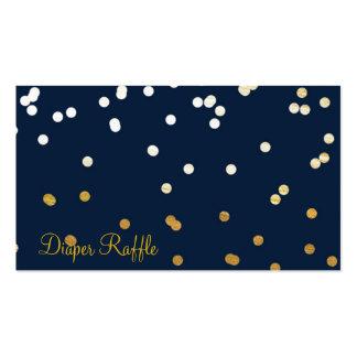 Rifa brillante del pañal de los puntos del confeti tarjetas de visita
