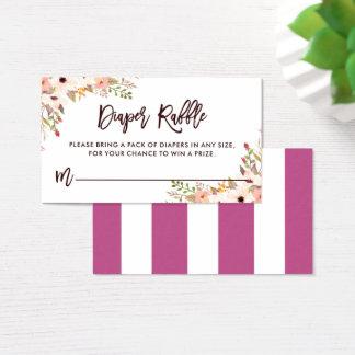 Rifa floral bohemia caprichosa del pañal de los tarjeta de negocios