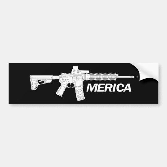 Rifles americanos pegatina para coche
