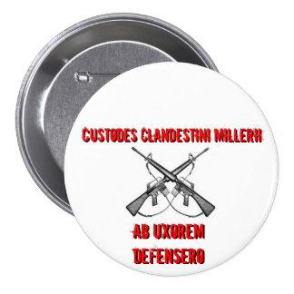 Rifles cruzados, Custodes Clandestini Millerii,… Chapa Redonda De 7 Cm