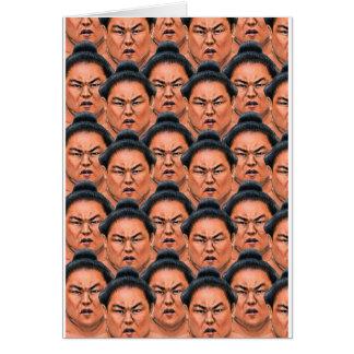 ¡RIKISHI!! (Luchador del sumo) Tarjeta De Felicitación