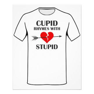 Rimas del Cupid con día de San Valentín estúpido Folleto 11,4 X 14,2 Cm