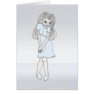 Rinoa, carácter de la galería de arte del animado tarjeta