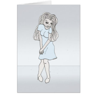 Rinoa, carácter de la galería de arte del animado tarjeta de felicitación