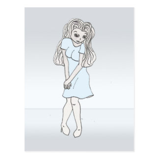 Rinoa, carácter de la galería de arte del animado postal