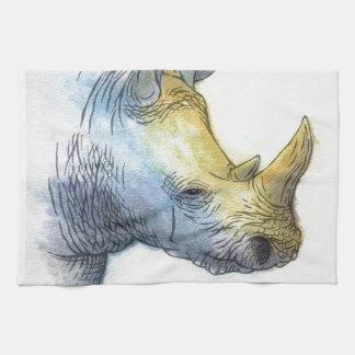 Rinoceronte blanco toallas de mano