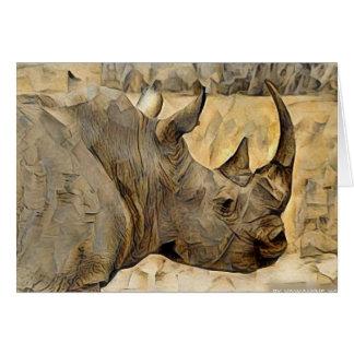 Rinoceronte en África Tarjeta De Felicitación