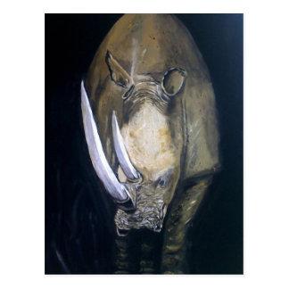 Rinoceronte en el safari postal