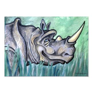 Rinoceronte Invitación 12,7 X 17,8 Cm