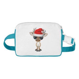 Riñonera Ciervos del bebé que llevan un gorra de Santa