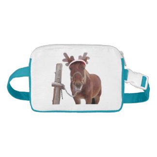 Riñonera Ciervos del caballo - caballo del navidad -
