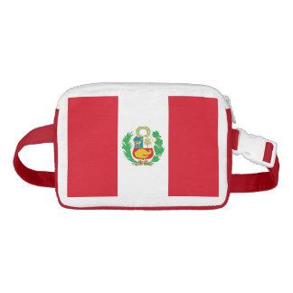 Riñonera Paquete de Fanny patriótico con la bandera de Perú
