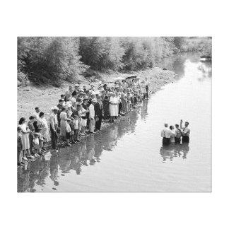 Río Baptism, 1940 Impresiones En Lona