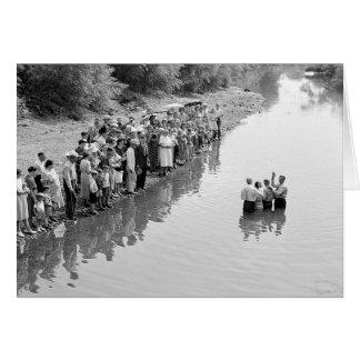 Río Baptism, 1940 Tarjeta De Felicitación