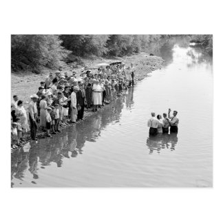 Río Baptism, 1940 Postal