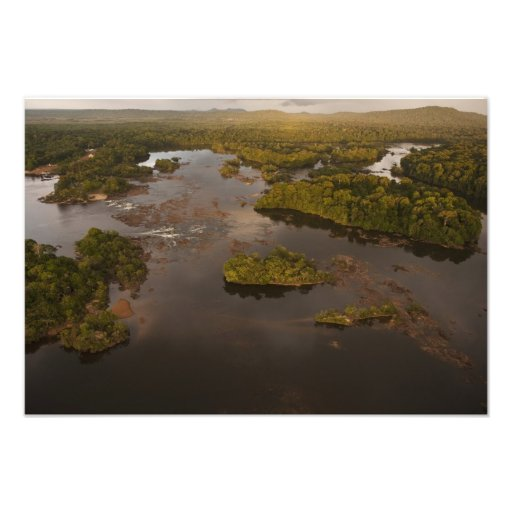 Río de Essequibo, el río más largo en Guyana, y 3 Arte Fotográfico