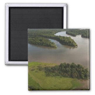 Río de Essequibo, el río más largo en Guyana, y Imán Cuadrado