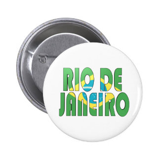 Río de Janeiro, el Brasil Chapa Redonda 5 Cm