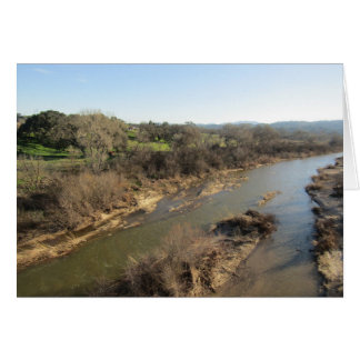 Río de las salinas del puente del viñedo, tarjeta de felicitación