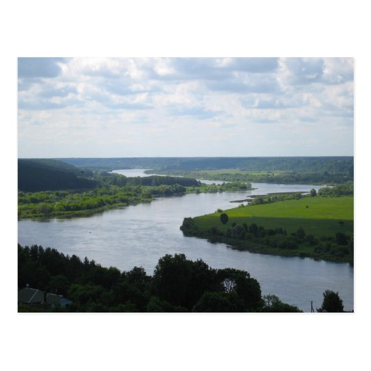 Río de Nemunas en Vilkija, LITUANIA --- Postal