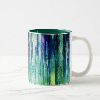 río de rasgones taza de café de dos colores