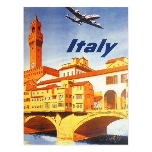 Río del puente de Florencia Firenze Italia del via Tarjeta Postal