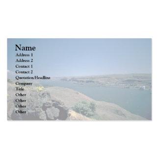 Río desnudo tarjetas de visita