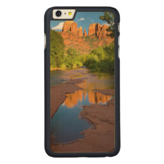 Río en la travesía roja de la roca, Arizona Funda De Arce Para iPhone 6 Plus De Carved