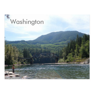 Río en postal del estado de Washington