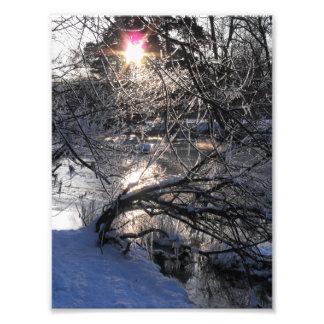 Río frío arte fotográfico