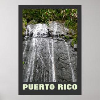 Rio Grande Puerto Rico del EL Yunque de la cascada Póster