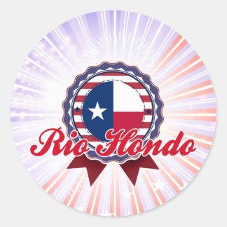 Río Hondo TX Pegatinas Redondas