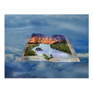 Río Murray, página en un libro, Postal