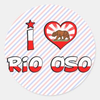 Río Oso CA Pegatina Redonda