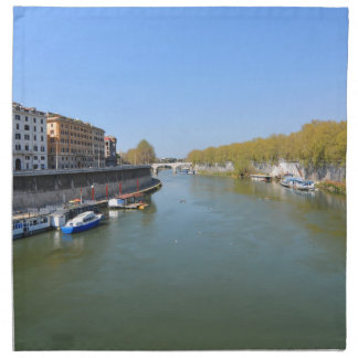 Río Tíber en Roma, Italia Servilleta De Tela